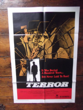 Terror, Movie Poster, John Nolan, Glynis Barber, Cult HORROR, '79